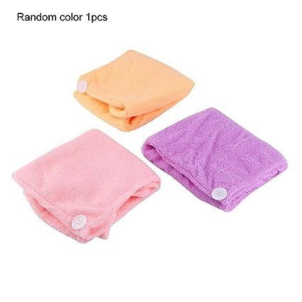 Kongqiabona para mujer niñas dama baño de secado rápido toalla de secado de pelo envolver la