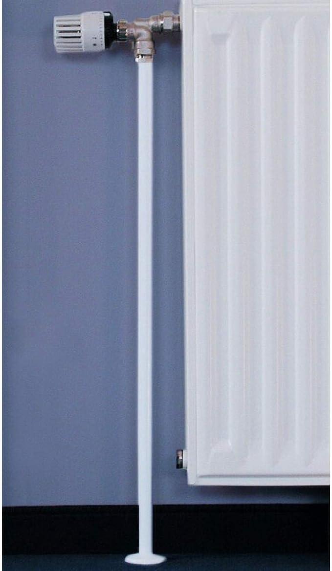 Geeignet f/ür 16-20 mm Rohre 3 x 1000 mm Einfach zuzuschneiden und anzubringen 3 x Rohrverkleidung f/ür Heizungsrohre Ideal f/ür Heizk/örper - Wei/ß Ideal f/ür den letzten Schliff im Haus