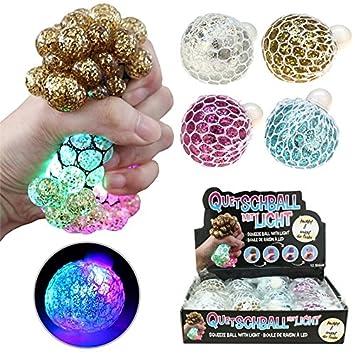 Quetschball LED Flash Ball 6 cm Squeezeball Hüpfball Bunt Blinkend Knetball Business & Industrie Großhandel & Sonderposten