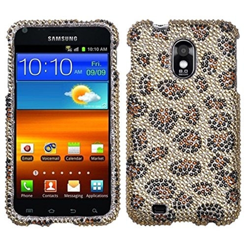 Asmyna SAMD710HPCDM113NP Stylish Dazzling Diamante Case for Samsung Galaxy S II/Epic 4G Touch D710 - 1 Pack - Retail Packaging - Leopard Skin