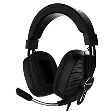 Auriculares Cascos Gaming Gamer para PS4 PC Xbox MUTOUREN Auriculares Gaming Gamer con Micrófono Micro Gaming