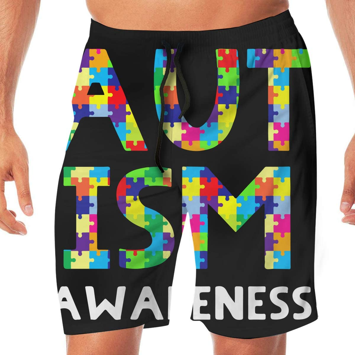 Reality And Ideals World Autism Mens Swim Trunks Board Shorts