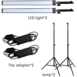 GSKAIWEN Photography Studio LED Lighting Kit Adjustable Light with Light Stand Tripod Photographic Video Capture Portraits