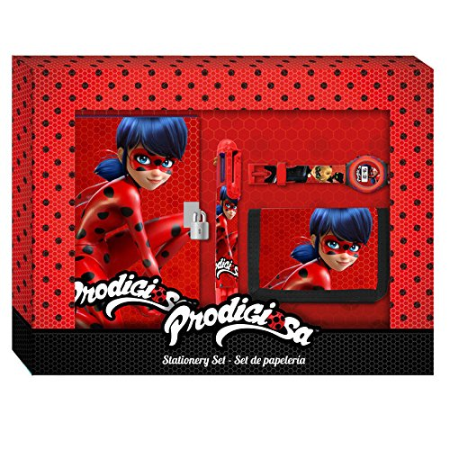 Miraculous Ladybug Diary Gift Set with Wallet Watch and Ballpen