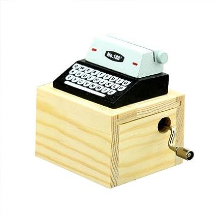 cretive máquina de escribir caja de música para el hogar/oficina/sala de estudio