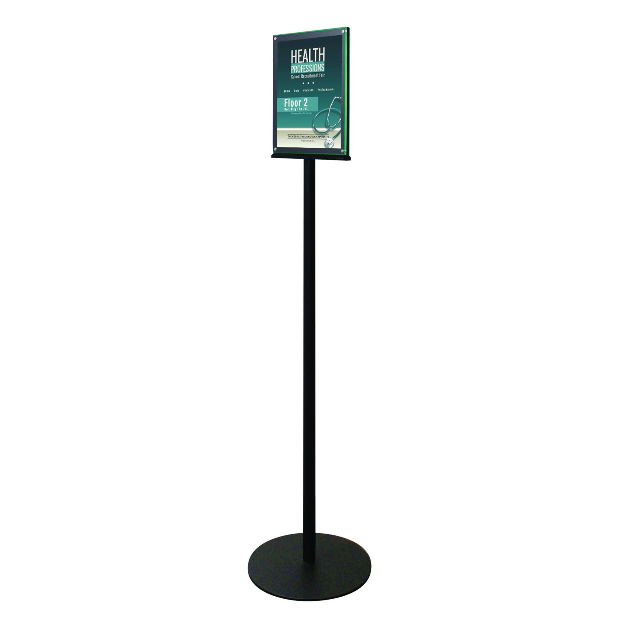 Deflecto Double-Sided Magnetic Sign Display, Magazine Size, 13 x 56 x 13 Inches (692056)