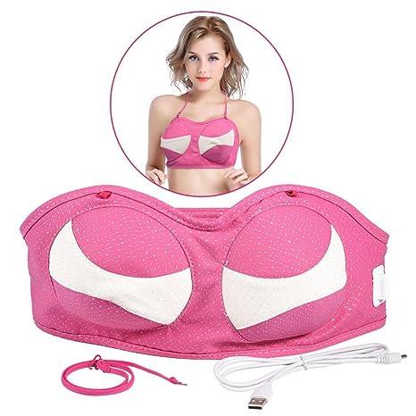 Masajeador eléctrico de aumento de senos con calefacción eléctrica, carga por USB Sujetador de masaje