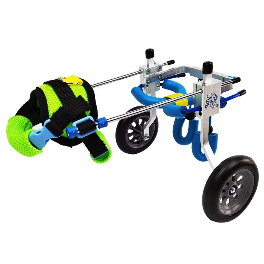 M LQGLY Pet wheelchair Dog wheelchair dog scooter rehabilitation training car out of the portable (Size   M)