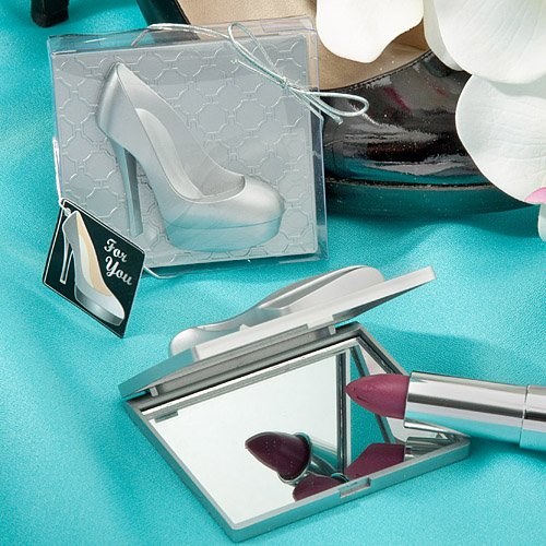 Shoe design mirror compacts - 120 count by Fashioncraft