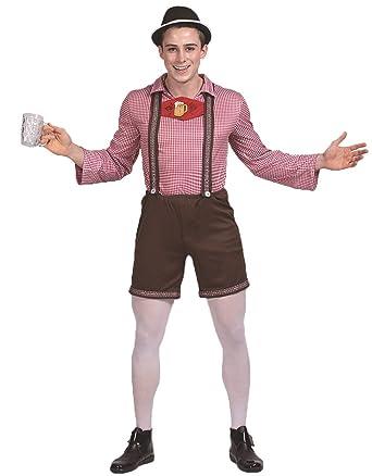 Amazon.com  JJ-GOGO Oktoberfest Costume Men - Adult Mens German Lederhosen  Bavarian Beer Festival Costume  Clothing c90071ee8b22