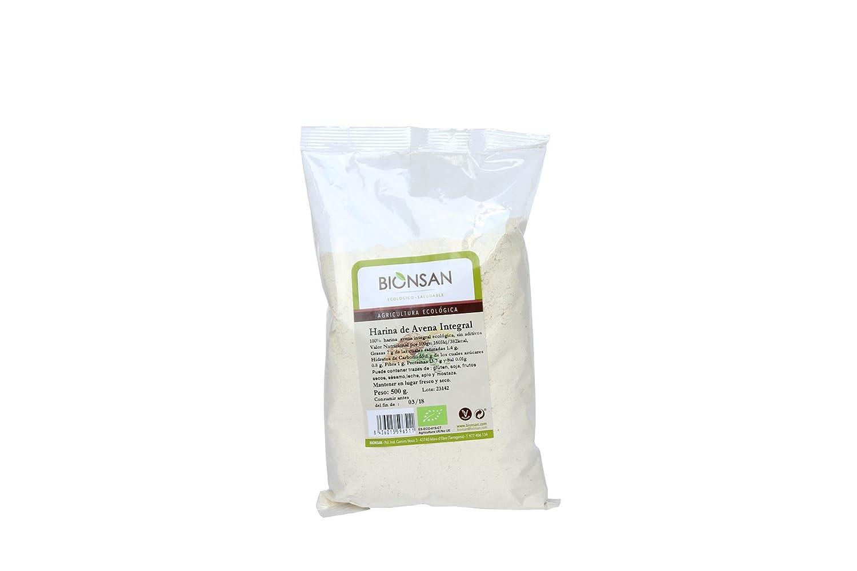 Bionsan Harina de Avena Integral - 6 Paquetes de 500 gr - Total: 3000 gr