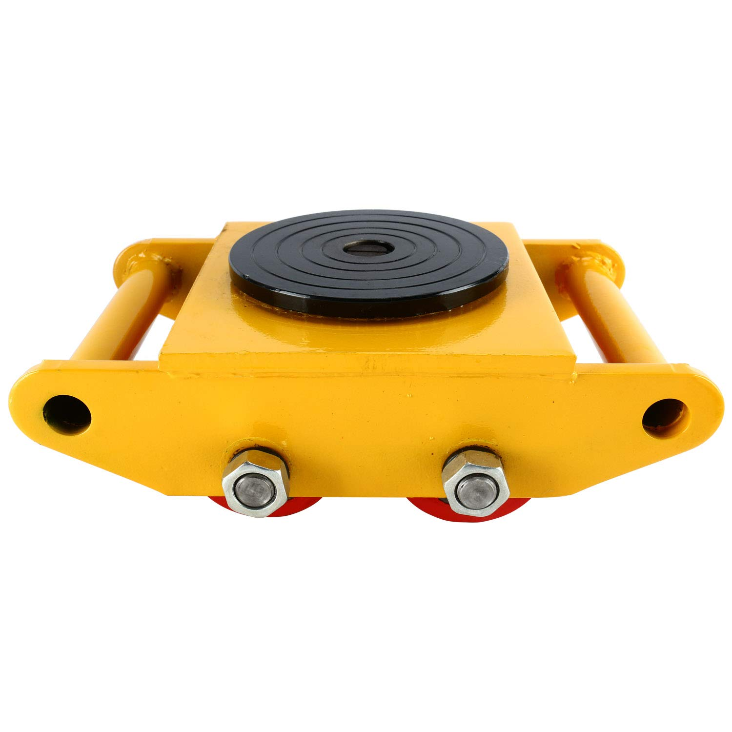 YaeTek Industrial Machinery Mover 13200 lbs 6 Tons Machinery Skate Dolly with 4 Rollers Cap 360 Degree Rotation (Yellow) by YAE TEK (Image #2)