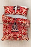 Sophia Art Exclusive Queen Indian Meditation Buddha Mandala Duvet cover WITH PILLOWCASES By Mandala Tapestry cover, Boho duvet Cover (multi)