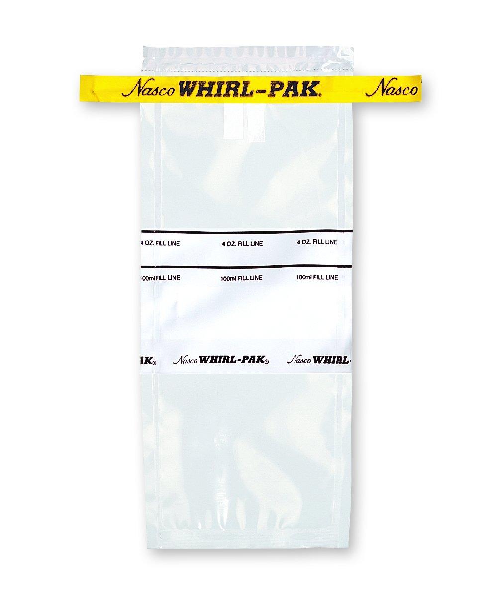 Nasco Whirl-Pak B01062WA Write-On Bag, 7.5cm L x 18.5cm W, 0.057mm Thickness, 118ml Capacity (Box of 500) by Nasco