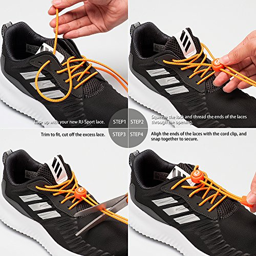 No Tie Shoelaces - Easy To Install Elastic Shoe Laces for Kids and Adults - Black