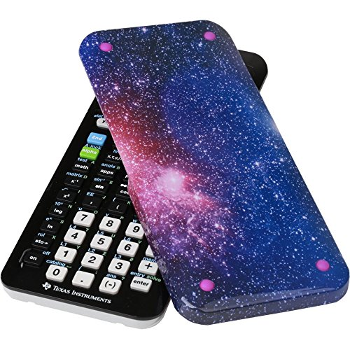 Guerrilla Hard Slide Case for Texas Instruments TI-84 Plus CE Color Edition Graphing Calculator With Screen protector and Graphing Ruler, Starburst