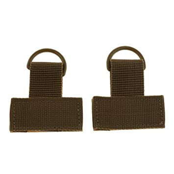 2pcs Tactical MOLLE T Shaped Webbing with D Ring Hook /& Loop Camping Hiking