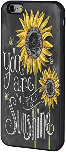 iPhone 6/6s Plus Case,BOSLIVE You are My Sunshine Sunflower Background Design TPU Slim Anti-Scratch Protective Cover Case for iPhone 6/6s Plus 5.5""