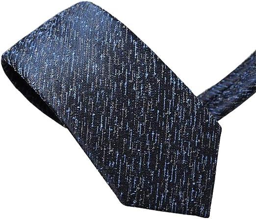 WeN Corbata para Hombre 100% Poliéster Moda Azul Marino Meteor ...