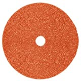 3M Cubitron II Fibre Disc 987C, Precision Shaped Ceramic Grain, Wet/Dry, 7'' Diameter, 36+ Grit, Orange (Pack of 25)