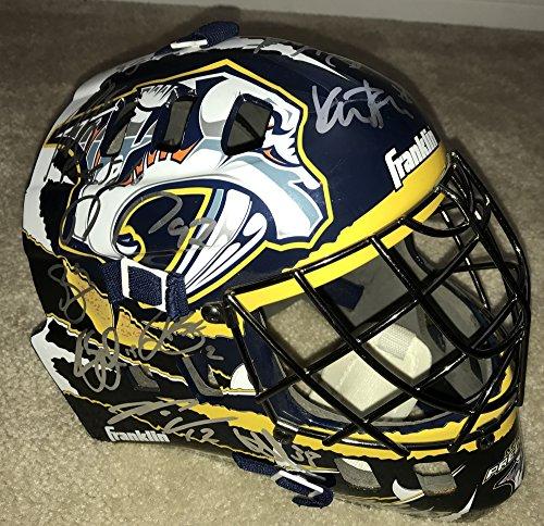 2017 Signed / Autographed Nashville Predators Team Signed Full Size Goalie Mask / Helmet - Silver Signatures