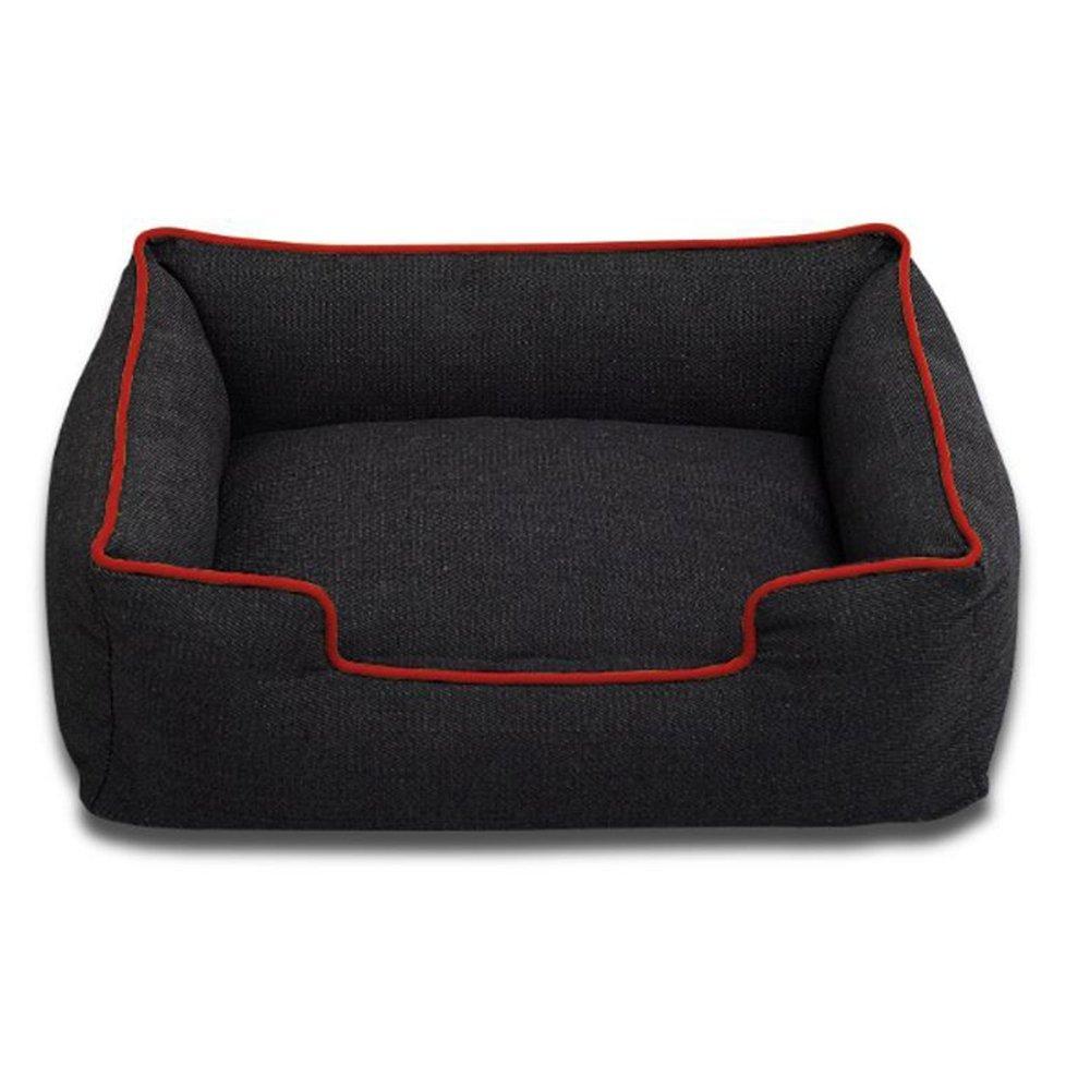 A 3845cm A 3845cm WUTOLUO Pet Bolster Dog Bed Comfort Denim Kennel Cat Nest (color   A, Size   38  45cm)