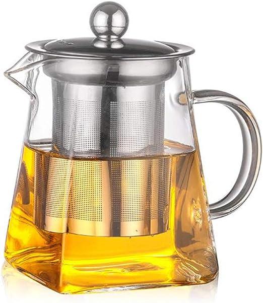 Teteras cuadradas de vidrio, ANSUG 350 ml Ollas de GlassTea ...
