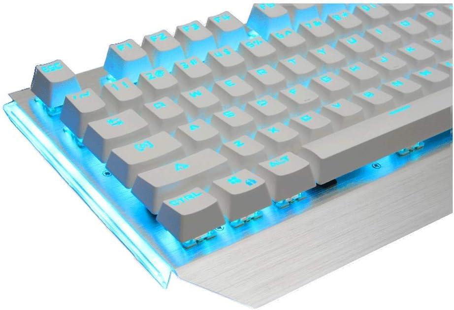 Color : Red Keyboard Set OFNMD Game Mechanical Keyboard Mouse Set Wired Ergonomics Esports Brushed Metal Panel Backlight Antimagnetic