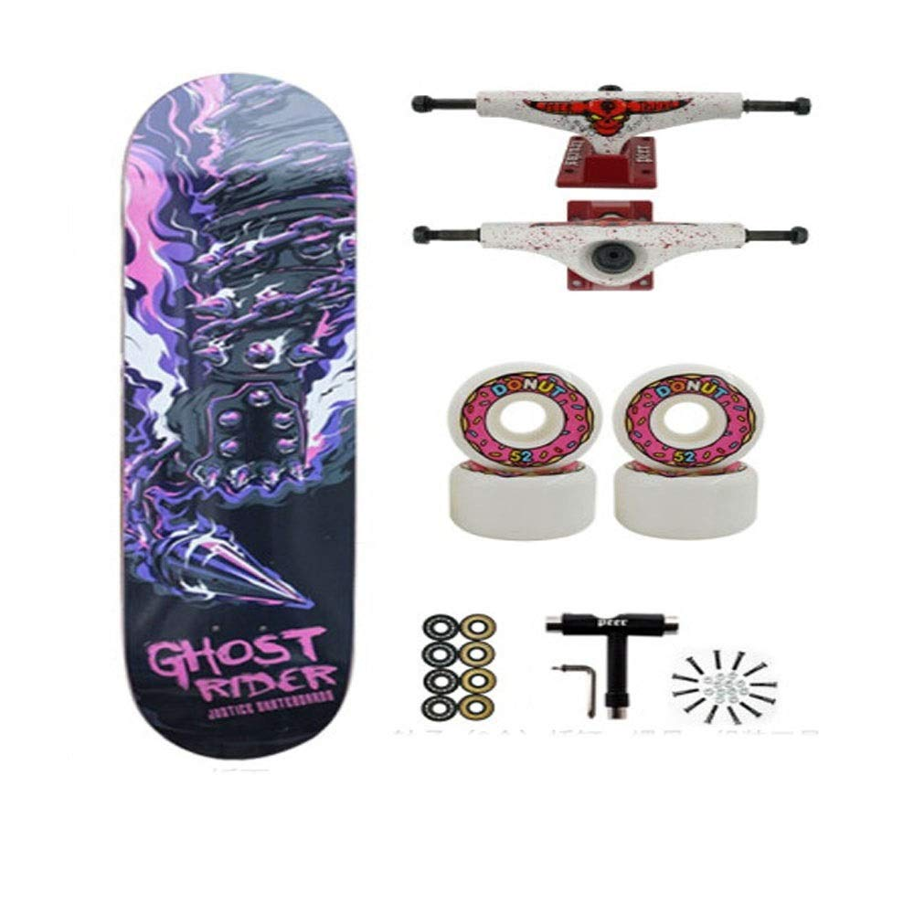 男性と女性の初心者に適したスケートボード、プロの四輪スケートボード、メープルの品質は良好で、さまざまなシーンに適しています Multicolor