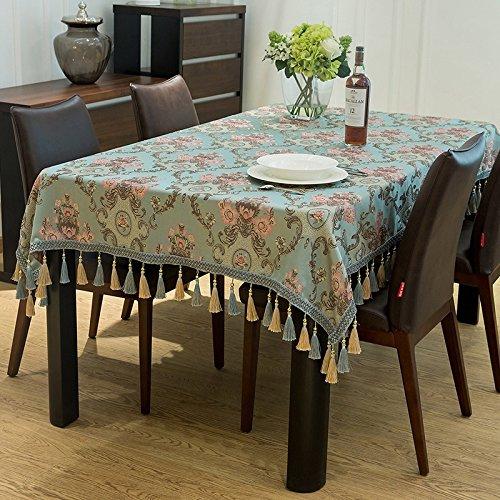 Tao Europäische Luxus Tischdecke Rechteckige Tischdecke Polyester Seide Stoff Tischtuch (Farbe   A, größe   51.2  70.9inch) B07CZDL53M Tischdecken Ausgezeichnete Qualität  | Schöne Kunst