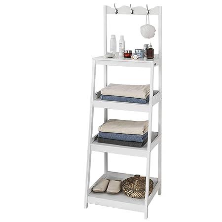 Pleasing Sobuy Frg279 W Bathroom Shelf Ladder Shelf Storage Display Interior Design Ideas Clesiryabchikinfo