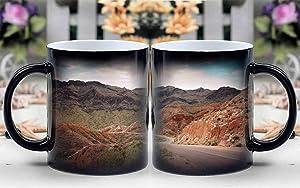 Amymami Personalized Gifts Heat Changing Magic Coffee Mug - Hiking Hoover Dam Lake Mead Las Vegas Arizona ROC