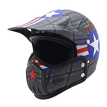 Goney Casco de la Motocicleta, Retro Adulto 3/4 Cara Abierta Moto Casco Unisex