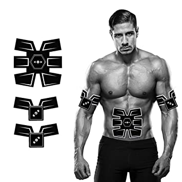 YUCHEEN Abs Trainer,Electric Muscle Stimulator Abdominal Toning Belts...