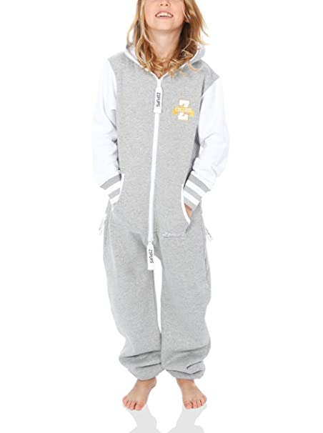 Zipups Team Spirit - Mono-pijama de manga larga, unisex, color hellgrau/