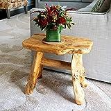 WELLAND Natural Wood Indoor/Outdoor Stool Cedar Garden Bench
