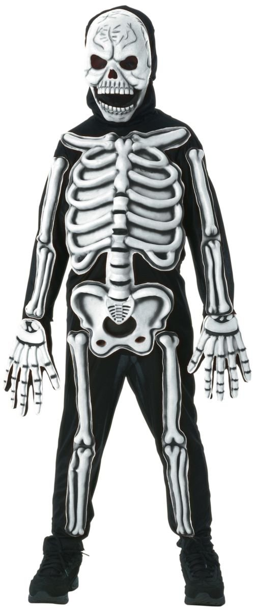 Rubies Glow in The Dark Skeleton Child Costume, Small, One Color