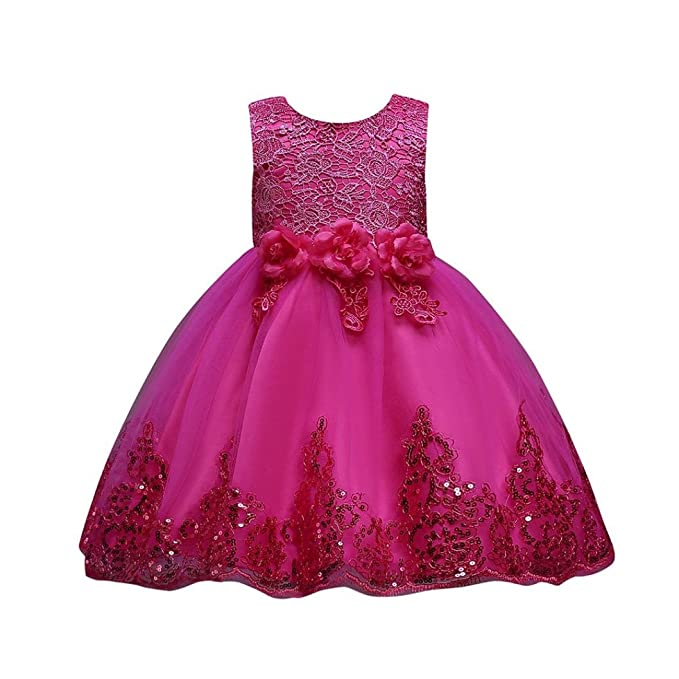 fb11402d2129 Kobay Floral Baby Girl Princess Bridesmaid Pageant Gown Birthday ...