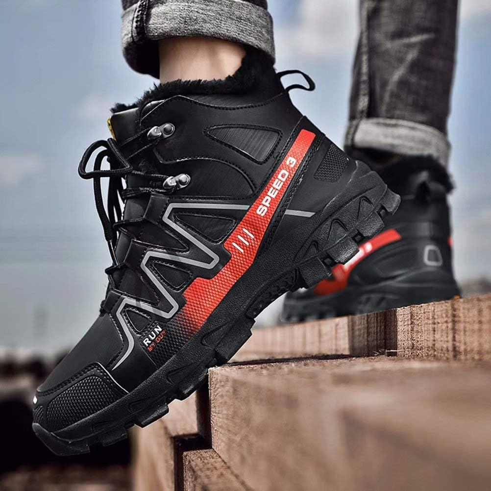 JIANYE Chaussures Trekking dhiver Chaussures De Randonn/ée pour Hommes Bottes Antid/érapantes Bottes De Neige Imperm/éables