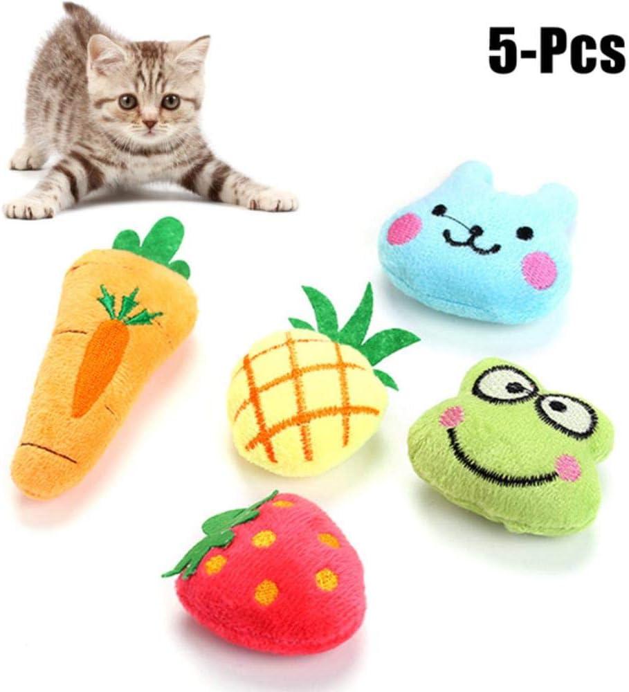 AWP Cat Toys Piña Fresa Zanahoria Zanahoria Rana muñecos interactivos Gatitos Juguetes de hierba gatera Juguetes Suministros para mascotas