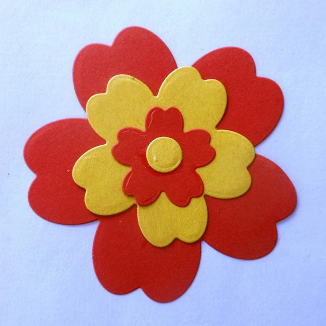 Brussels08 4 plantillas de corte de metal con diseño de flores para manualidades, tarjetas de papel, plantillas de decoración y manualidades, molde de ...