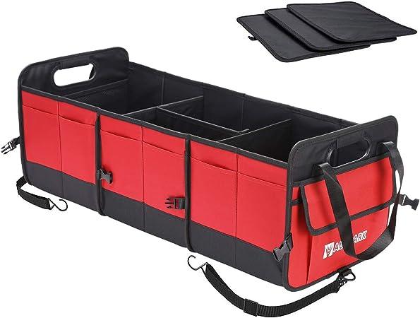 Autoark Multifunktional Auto Suv Kofferraum Organizer Robustes Faltbar Stauraum Mit Verstellbaren Fächern Dak 085 Auto