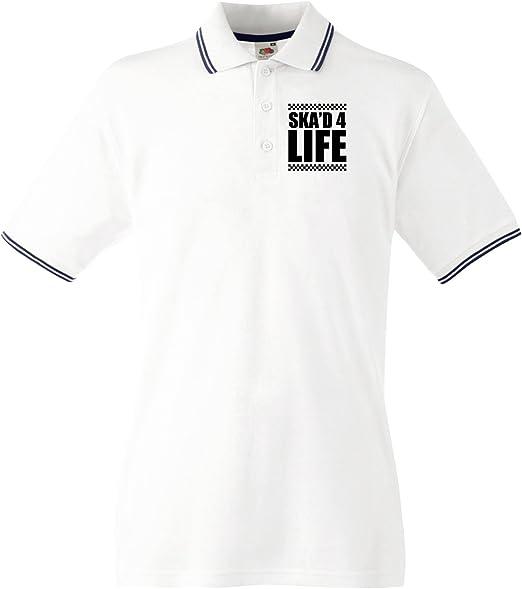 para Disfraz 4 Life Que 2 para Hombre Polo de Color Plateado y ...