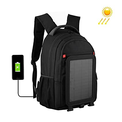37dac7dee802 Amazon.com: EFGS Solar Backpack, Portable Solar Charger, with 5W ...