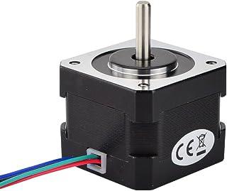 STEPPERONLINE Nema 17 Stepper Motor 26Ncm 12V 0.4A 34mm Body 4-lead w/ 1m Cable & Connector for 3D Printer/CNC Robot