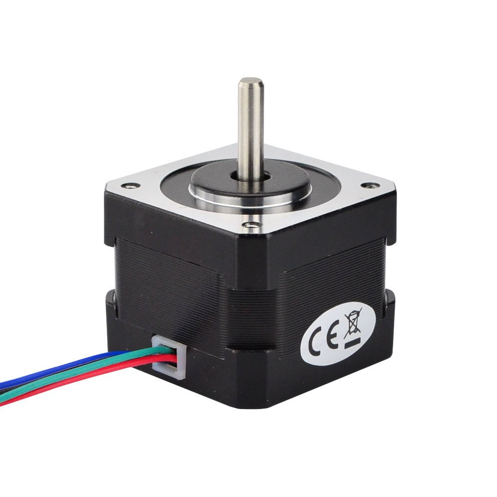 Amazon.com: STEPPERONLINE Nema 17 Stepper Motor 26Ncm(36.8oz.in) 12V on
