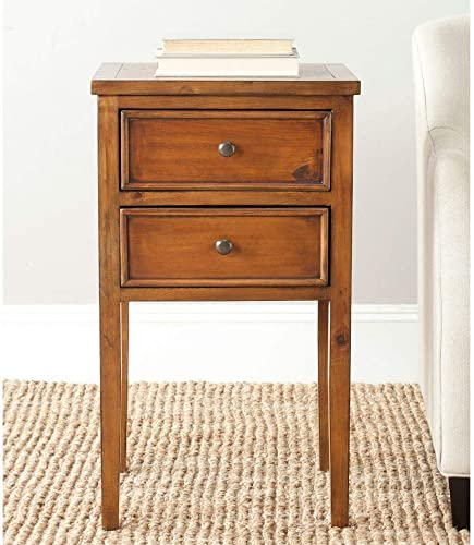 Safavieh American Homes Collection Toby Filbert End Table, Brown