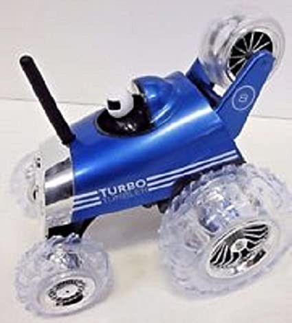 RC Turbo Tumbler 360° Rally Car Blue 4 AA Size Batteries & One1 9V Battery