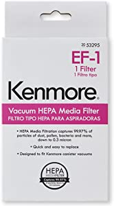 Kenmore 53295 EF-1 HEPA Media Vacuum Cleaner Exhaust Air Filter for Upright and Canister Vacuums