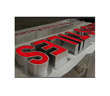 outdoor front lit 3d letterslogolight boxesindividually metal channel letters